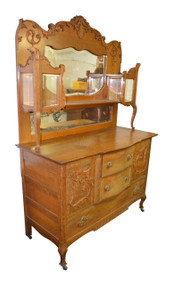 SOLD Oak Carved Sideboard / China Buffet