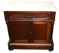 SOLD Victorian Marble Top Commode