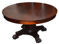 SOLD Empire Mahogany Claw Foot  Dining Room Table - 5 Leaves