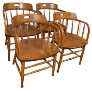 SOLD Set of 4 Oak Chairs Made by Bent Brothers