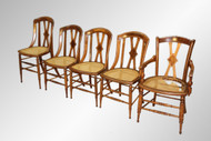 16435 Antique Set of 5 Victorian Dining Chairs