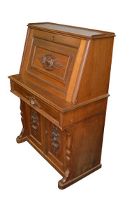SOLD Antique Victorian Walnut Slant Top Secretary Desk