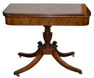SOLD Flame Mahogany Federal Style Card Table