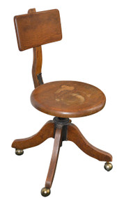 SOLD  Oak Stenographer Lady's Office Chair