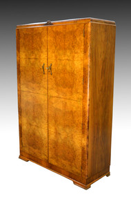 SOLD Deco Burl Walnut Wardrobe