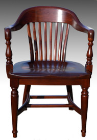 SOLD Mahogany Lawyers Barrel Arm Chair