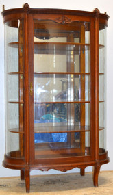 SOLD Unusual Oak Dainty Curio Cabinet