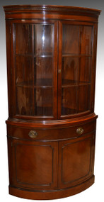 SOLD Mahogany Corner China Cabinet by Drexel China Closet