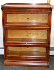 SOLD Oak Victorian Sectional Bookcase by Weir