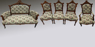 SOLD Five Piece Victorian Parlor Set