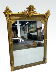 SOLD Exceptional Victorian Multi-Gold Mantle Mirror w/ Jenny Lind