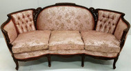 SOLD  French Victorian Shapely Carved Sofa