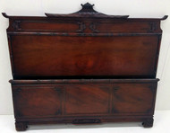 SOLD Mahogany Carved Bed Full Size