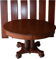 SOLD Round Mahogany Empire Dining Banquet Table w/6 Leaves