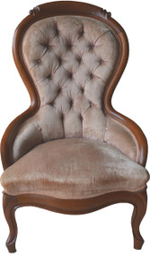 SOLD Victorian Ladies Sitting Chair – Balloon back