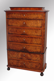SOLD Seven Drawer Olive Ash Biedermeier Period Chest
