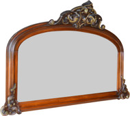 SOLD Victorian Civil War Era Carved Mantle Mirror