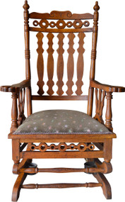 SOLD Victorian Oak Platform Rocker