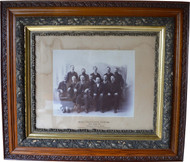 SOLD Victorian Oak Carved Frame with Somerset Jury