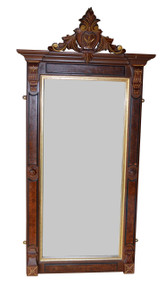 SOLD Victorian Gold Incise Hall Mirror