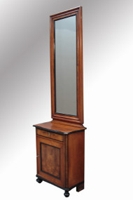 SOLD Antique Beidermeier Mirror Console Cabinet