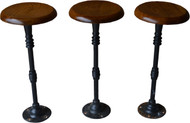 SOLD Three Oak Cast Iron Pool Room Stools - Rare