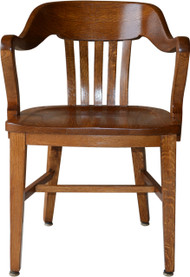 SOLD Oak Barrel Back Lawyers Bankers Office Chair