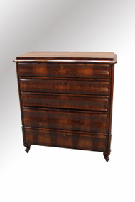 SOLD Rare Biedermeier Five Drawer Chest