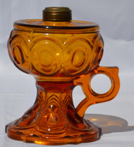 SOLD Amber Coin Dot Stem Finger Lamp