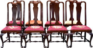 SOLD Set of 8 Custom Mahogany Chippendale Dining Chairs