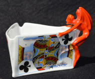SOLD Royal Bayreuth Devil and Card Toothpick Holder