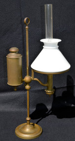 SOLD Antique Brass Student Lamp