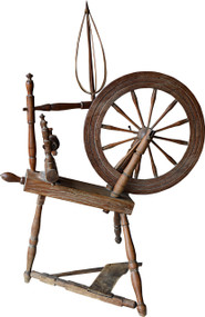 SOLD Primitive Period Country Flax wheel