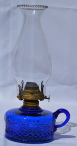 SOLD Blue Oil Victorian Finger Lamp