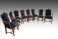 SOLD Set of Eight Italian Style Dining Chairs