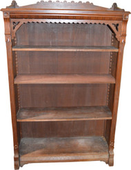 SOLD Walnut Victorian Carved Bookcase