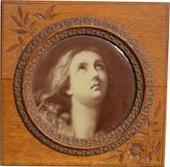 SOLD Carved Eastlake Beautiful Oak Frame