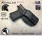 """Achilles Holster shown for the Glock 19, Right Hand Draw, in Tactical Black, with 1.75"""" Clip,  Adjustable Cant Angle."""