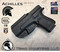 "Achilles Holster shown for the Glock 19 Generation 5, Right Hand Draw, in Tactical Black, with 1.75"" Clip,  Adjustable Cant Angle."