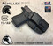 """Achilles Holster shown for the Glock 17, Right Hand Draw, in Tactical Black, with 1.75"""" Clip,  Adjustable Cant Angle."""