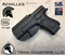 """Achilles Holster shown for the Glock 22, Right Hand Draw, in Tactical Black, with 1.75"""" Clip,  Adjustable Cant Angle."""