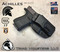 "Achilles Holster shown for the Glock 17 Gen 5, Right Hand Draw, in Tactical Black, with 1.75"" Clip,  Adjustable Cant Angle."
