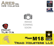 ARES Holster shown for the Sig Sauer M18, equipped with the Streamlight TLR-7 weapon mounted light, Image coming soon.
