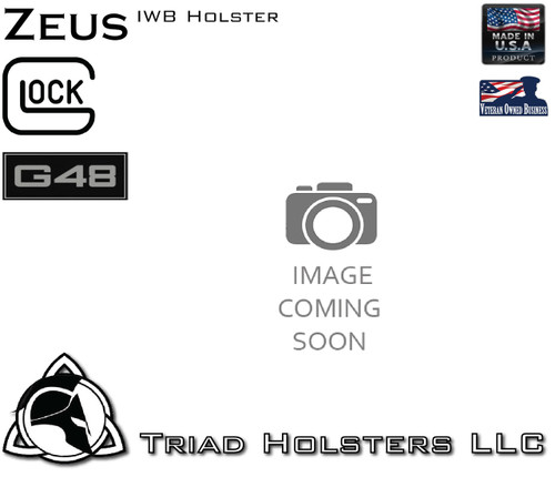 Holster Available now, Image Coming Soon, refer to Glock 43 Zeus for similar holster appearance.