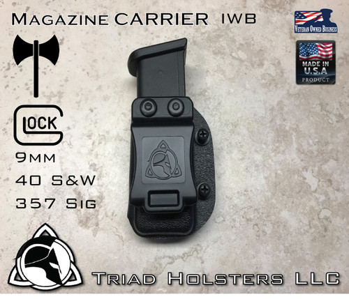 Magazine Carrier for Glock 9mm, 40 S&W, Sig 357 Pistols.