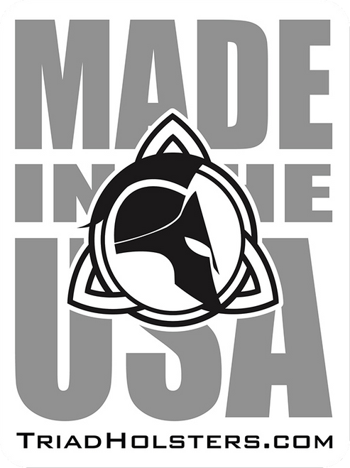 "Triad Holsters Made in the USA 3"" x 4"" UV Resistance Decal."