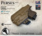 """Perses Rare Earth Magnet Retention Holster for the Glock 26/27/33 and the Olight PL-Mini 2.  Shown in Coyote Tan with 1.5"""" Black Belt Clip."""