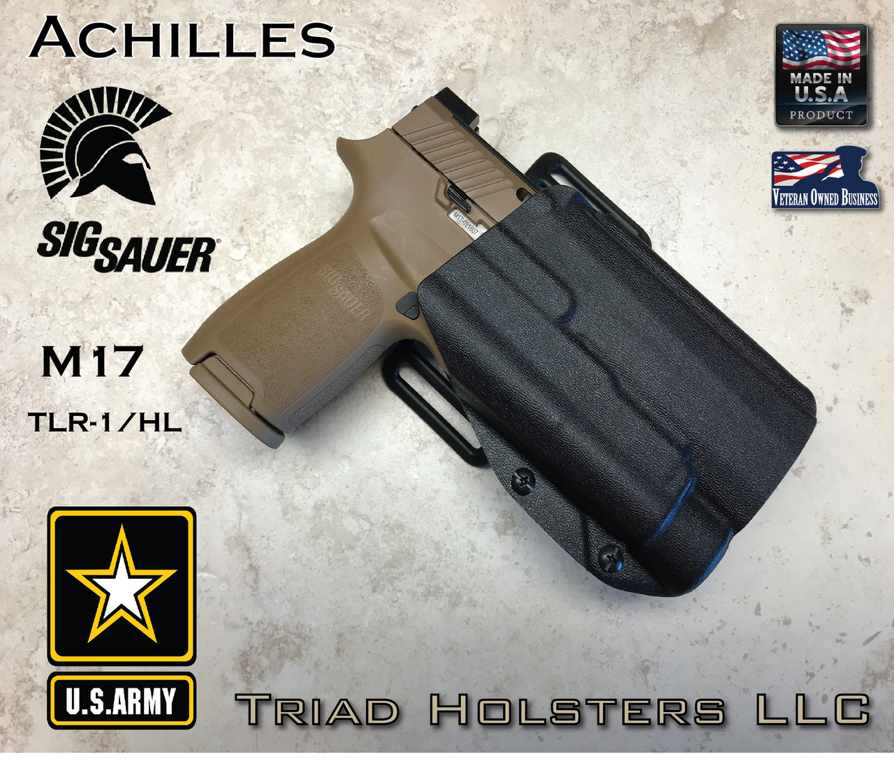 Kydex Holster Sig Sauer M17 with TLR-1 Achilles OWB Outside the Waistband