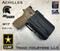 Achilles Outside the Waistband Holster shown for the Sig Sauer M17 equipped with the Streamlight TLR-1 or TLR-1 HL, Right Hand Draw, in Tactical Black