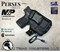 """Perses Rare Earth Magnet Retention Holster for the Smith and Wesson Shield 9mm and 40 S&W Version 1.o and 2.0 and the Olight PL-Mini 2.  Shown in Tactical Black with 1.5"""" Black Belt Clip."""